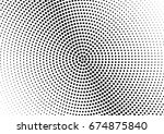 abstract halftone dotted... | Shutterstock .eps vector #674875840