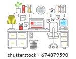 illustration of a computer... | Shutterstock . vector #674879590