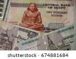 egypt banknotes of different... | Shutterstock . vector #674881684