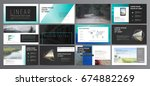 original presentation templates ... | Shutterstock .eps vector #674882269