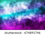 vector realistic cosmic galaxy... | Shutterstock .eps vector #674891746