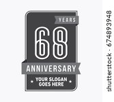 68 years anniversary design... | Shutterstock .eps vector #674893948