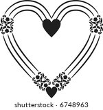 abstract floral heart frame... | Shutterstock .eps vector #6748963