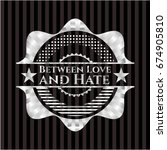 between love and hate silvery... | Shutterstock .eps vector #674905810