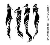woman east type in veiled.... | Shutterstock .eps vector #674908054