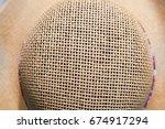 Close Up On Straw Hat
