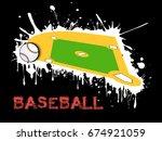 abstract baseball background.... | Shutterstock .eps vector #674921059