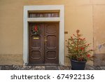the door of the old house at... | Shutterstock . vector #674922136