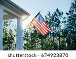 front side of typical american... | Shutterstock . vector #674923870