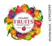 vector illustration berries and ... | Shutterstock .eps vector #674923999