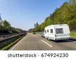 caravan or recreational vehicle ... | Shutterstock . vector #674924230