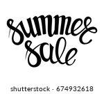 handwritten season sale... | Shutterstock . vector #674932618