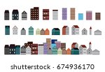 vector design building and city.... | Shutterstock .eps vector #674936170