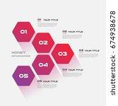 honeycombs  gradient... | Shutterstock .eps vector #674938678