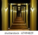 Long Hallway Of A Hotel