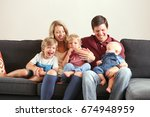 lifestyle of adorable young... | Shutterstock . vector #674948959