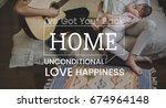 family parentage home love... | Shutterstock . vector #674964148