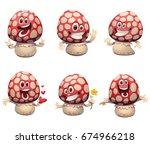 vector set of cartoon images of ... | Shutterstock .eps vector #674966218