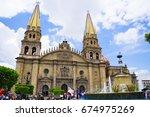 guadalajara cathedral   Shutterstock . vector #674975269