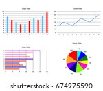 charts and graphs | Shutterstock .eps vector #674975590