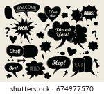 comic speech bubbles   vector... | Shutterstock .eps vector #674977570
