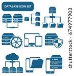 database icon set clean vector | Shutterstock .eps vector #674977903
