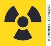 ionizing radiation hazard...   Shutterstock .eps vector #674983090