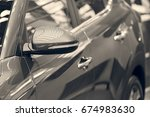 rearview mirror on the motor... | Shutterstock . vector #674983630