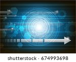 blue background  technology... | Shutterstock .eps vector #674993698
