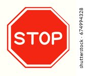 stop sign illustration. flat