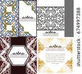 abstract art invitation card  | Shutterstock .eps vector #674997388