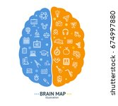 human brain map concept left... | Shutterstock .eps vector #674997880
