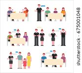 restaurant people character... | Shutterstock .eps vector #675001048