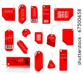new red price tag set | Shutterstock . vector #67500658