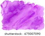 Purple Stripes Of Watercolor...