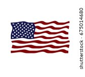 flag of the united states.... | Shutterstock . vector #675014680