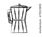 italian coffee maker icon | Shutterstock .eps vector #675015850