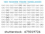 glasses and sunglasses icons... | Shutterstock .eps vector #675019726