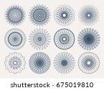guilloche decorative elements.... | Shutterstock .eps vector #675019810