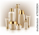 elegant realistic packages for... | Shutterstock .eps vector #675020824