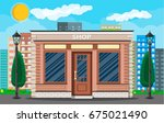 generic shop exterior on the... | Shutterstock .eps vector #675021490