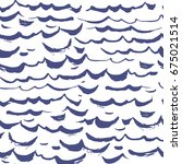 seamless pattern waves... | Shutterstock .eps vector #675021514
