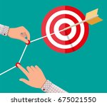 hand of businessman pointing to ... | Shutterstock .eps vector #675021550
