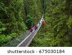 capilano suspension bridge park ... | Shutterstock . vector #675030184