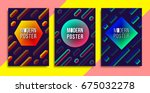 three modern fest and electro... | Shutterstock .eps vector #675032278