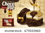 marshmallow chocolate pie ad ... | Shutterstock .eps vector #675032860