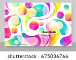cover copybook with abstract... | Shutterstock .eps vector #675036766