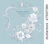 summer flowers  poppy  daffodil ... | Shutterstock .eps vector #675037384