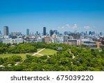 skyline of osaka city view from ...   Shutterstock . vector #675039220