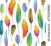 watercolor seamless pattern... | Shutterstock . vector #675039880